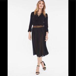 Chico's Leopard Mesh Overlay Skirt
